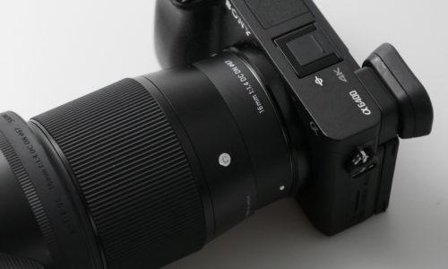 α6400 and SIGMA16mm